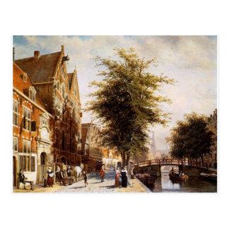 Postal Lombardo Voorburgwal Amsterdam del saltador de