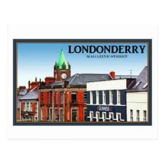 Postal Londonderry/Derry - calle de la revista