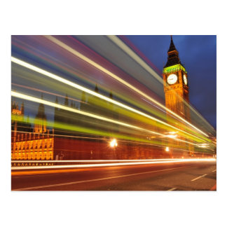 Postal Londres por noche
