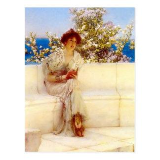 Postal Lorenzo Tadema- el año s en la primavera