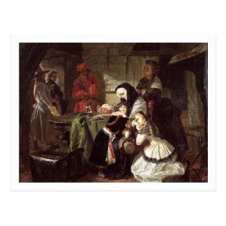 Postal Los 1753-93) finales de Marie-Antonieta (adiós a