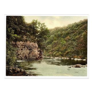 Postal Los amantes saltan, caza de Holne, Dartmoor,