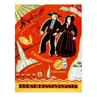 Postal Los Amish y la Pennsylvania rural