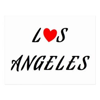Postal Los Ángeles corazón rojo