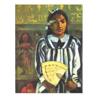 Postal Los antepasados de Tehamana - Paul Gauguin