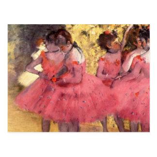 Postal Los bailarines rosados, antes del ballet