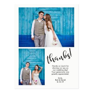 Postal Los   banales modernos boda de dos fotos le