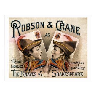 Postal Los bribones de Shakespeare