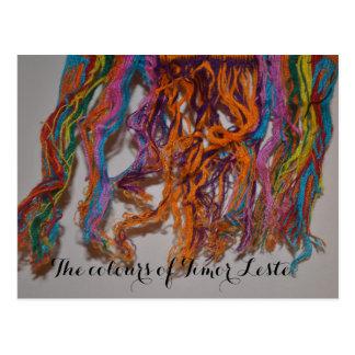 Postal Los colores de Timor Oriental