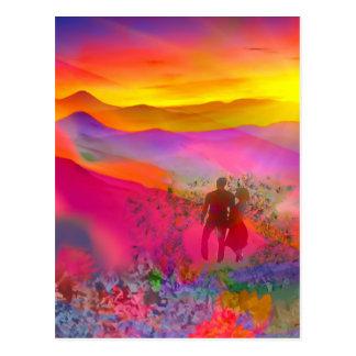 Postal Los colores del arco iris muestran de una vez.