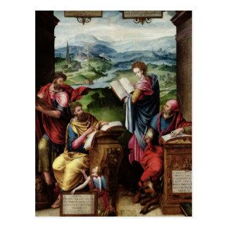 Postal Los cuatro evangelistas