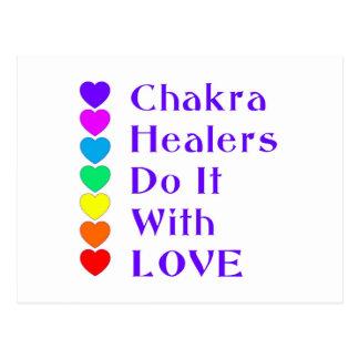 Postal Los curadores de Chakra lo hacen con amor