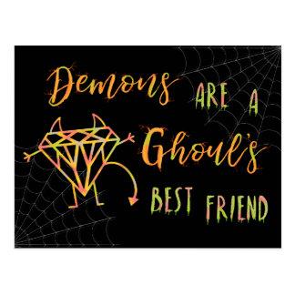 Postal Los demonios divertidos de Halloween son un mejor