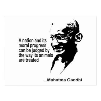 Postal Los derechos de los animales de Mahatma Gandhi