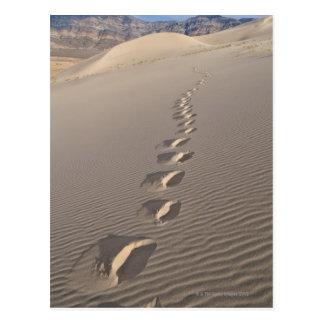 Postal Los E.E.U.U., California, huellas de la duna del