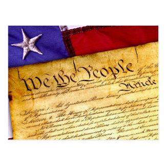 Postal Los E.E.U.U. nos señalan por medio de una bandera