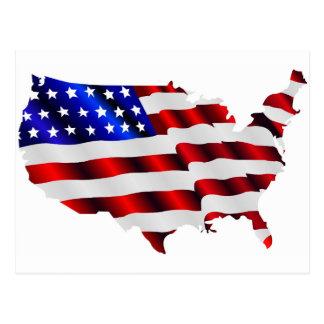 Postal Los Estados Unidos de América y bandera
