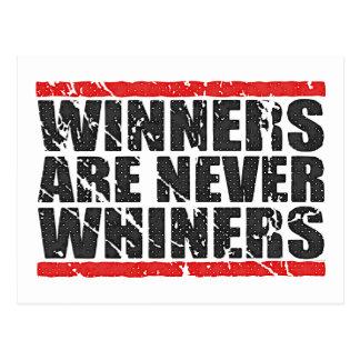 Postal Los ganadores nunca son mirada retra de los