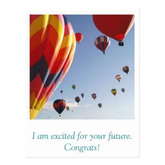 Postal los globos, soy emocionado para su futuro.
