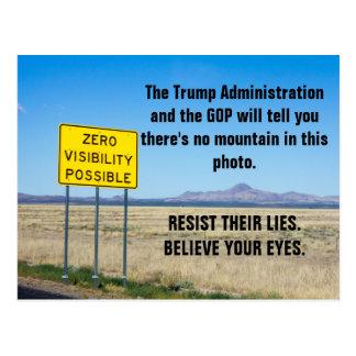Postal Los hechos y la materia de la verdad resisten