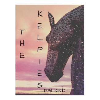 Postal Los Kelpies postal, parque de la hélice, Falkirk,