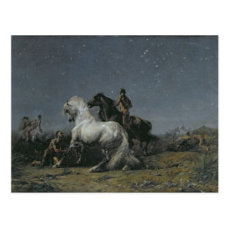 Postal Los ladrones del caballo, siglo XIX