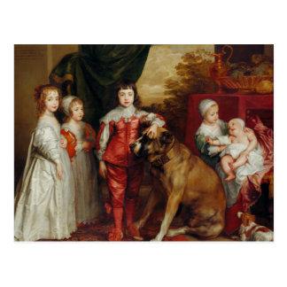 Postal Los más viejos niños de Anthony van Dyck- cinco de