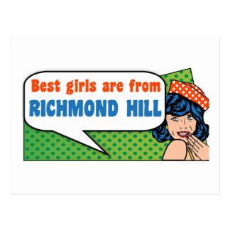 Postal Los mejores chicas son de colina de Richmond