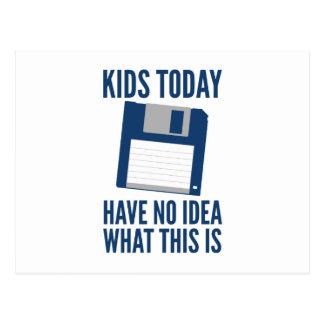 Postal Los niños no tienen hoy ninguna idea cuáles esto