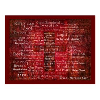 Postal Los nombres del Jesucristo de la biblia