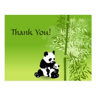 Postal Los osos y el bambú de panda le agradecen