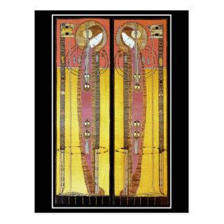 Postal: Los paneles bordados de Margaret Macdonald