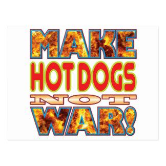 Postal Los perritos calientes hacen X