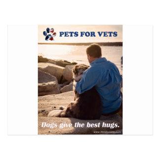 Postal Los perros dan los mejores abrazos