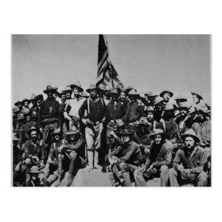 Postal Los potros Teddy Roosevelt Rough Riders 1898 del