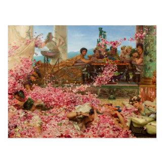 Postal Los rosas de Heliogabalus de Lawrence Alma-Tadema