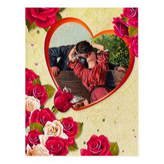 Postal Los rosas y el marco del corazón añaden su foto