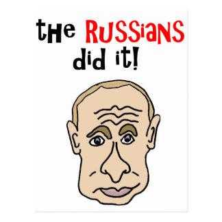 Postal Los rusos lo hicieron dibujo animado de Putin