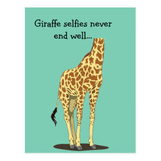 Postal Los selfies de la jirafa nunca terminan bien…
