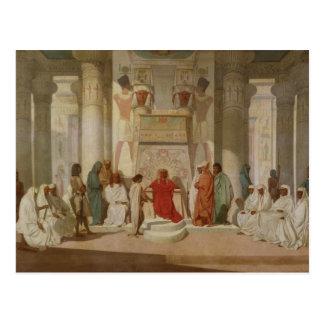 Postal Los sueños del Pharaoh de explicación de José