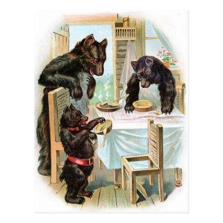 Postal Los tres osos