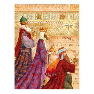 Postal Los tres reyes