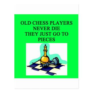 Postal los viejos jugadores de ajedrez nunca mueren