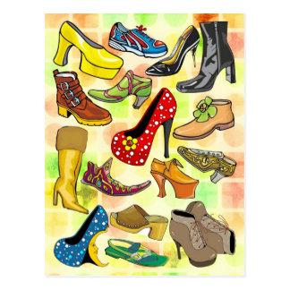 Postal Los zapatos de las mujeres