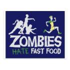 Postal Los zombis ODIAN los alimentos de preparación