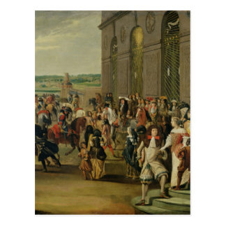 Postal Louis XIV delante de la gruta de Thetis