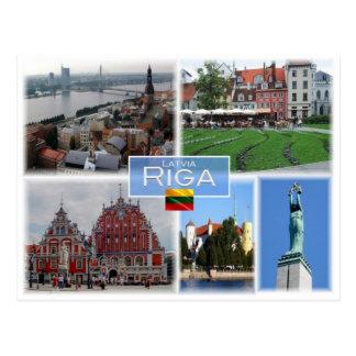 Postal LT Lituania - Riga Letonia Lietuva -