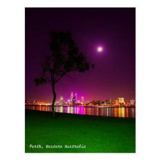 Postal Luces de la ciudad de Perth de la playa del sur de