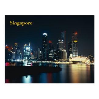 Postal Luces de la noche de Singapur