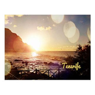 Postal Luces de la tarde de Tenerife